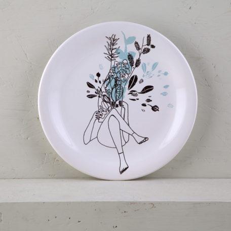plato postre ceramica