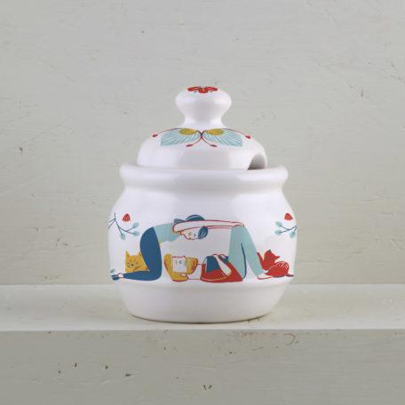 Azucarera decorada ceramica