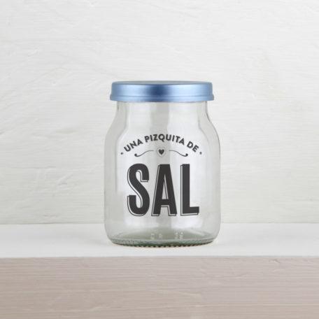 frasco reciclado sal