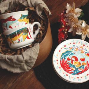 _Combo :: 2 Tazas de té + 2 Platos de té + Caja Regalo :: AS