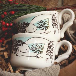 _Combo :: 2 Tazas de té + 2 Platos de té + Caja Regalo :: CL