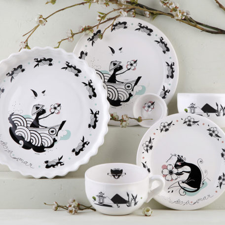 juego de platos ceramica