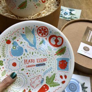 _Combo :: Plato Postre + Bowl + Caja Regalo :: PL