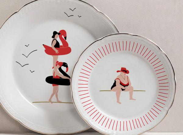 Valeria Fioroni | Colección de Vajilla en Porcelana